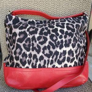 Authentic Coach Ocelot/ Red Handbag